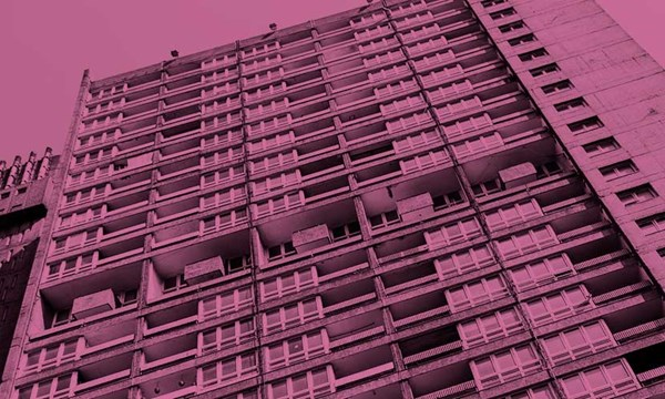 Closeup of a block of flats